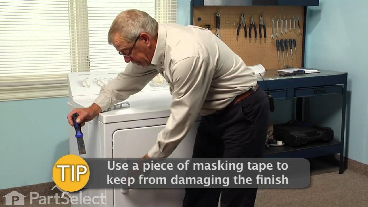 Replacing your General Electric Dryer Door Handle - White