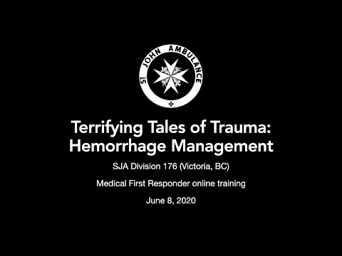 Div 176 - Terrifying Tales of Trauma: Hemorrhage Management - June 8, 2020