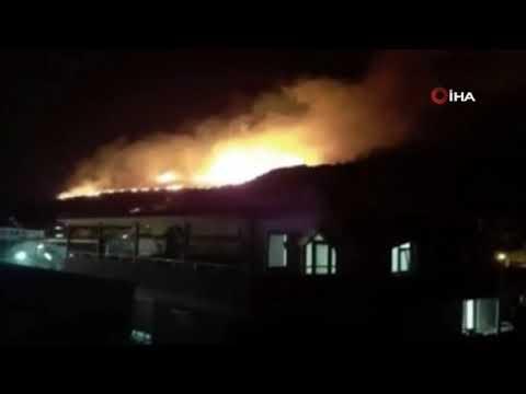 İzmir'deki otluk yangını söndürüldü