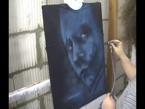 Atelier Meijer - Airbrush of another Heath Ledger Joker T-shirt