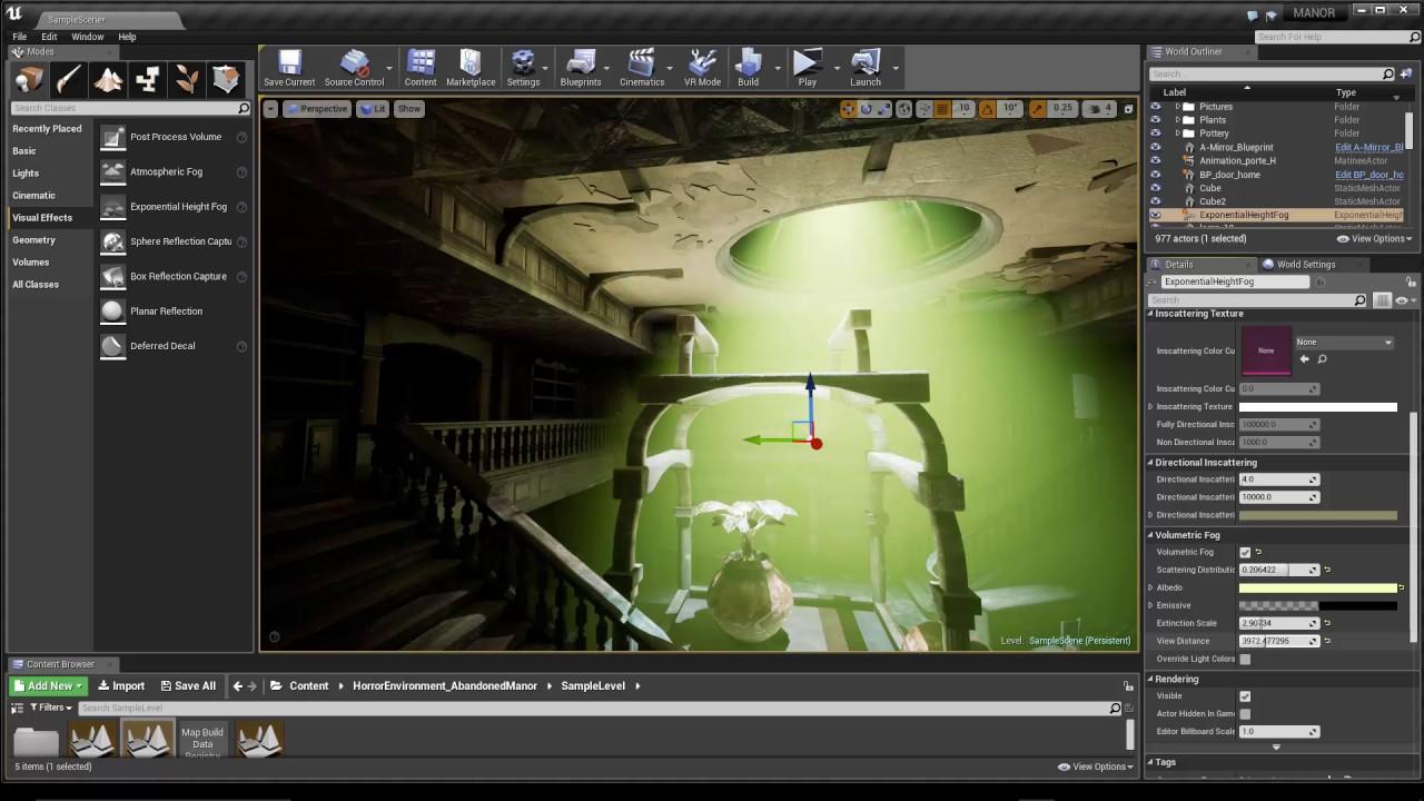 Tuto du Jeudi : Unreal Engine - Volume Fog