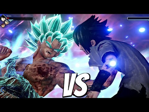 JUMP FORCE - Goku SSB Kaioken vs Sasuke 1vs1 Gameplay (PS4 Pro)
