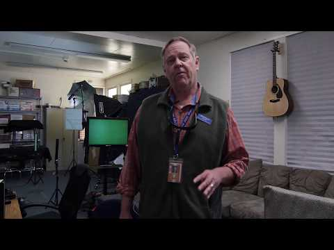 Larning to use the MHS Green-Screen in the back of the library:  Part 4, audio connections