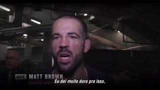 UFC Norfolk: Entrevista de backstage com Matt Brown
