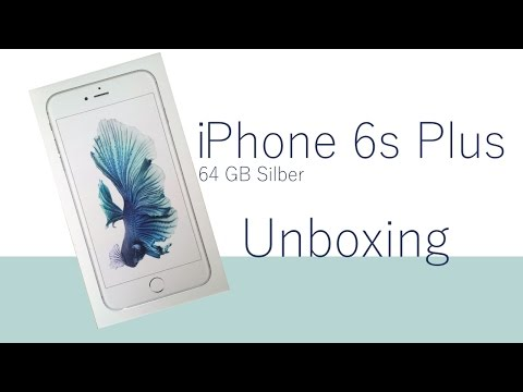 iPhone 6s Plus 64GB  Unboxing iPhone 6s Plus silber Deutsch