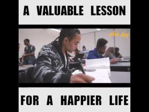 A Valuable Lesson For A Happier Life