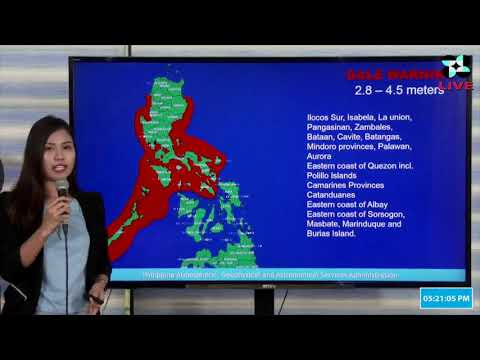 [Inquirer]  PAGASA weather update as of 5 p.m., Aug. 24, 2019