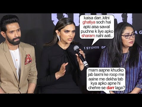Deepika Padukone's Genuine ANGRY REACTI0N When Reporter Asked Her SH0KING Question @ Chappak Launch