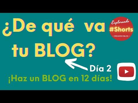 ¿De qué vas a hablar en tu blog? Haz un BLOG en 12 días [DÍA 2] #Shorts