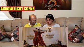 BAHUBALI 2   ARROW FIGHT SCENE Reaction!   MIND BLOWING 3 arrows archery Scene   Prabhas entry scene