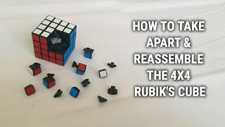 How to Take Apart & Reassemble ANY 4x4 Rubik's Cube - Easiest way