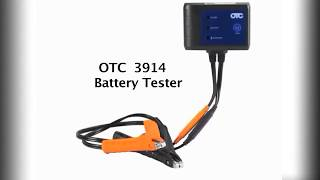 OTC 3914 Battery Tester Set Up