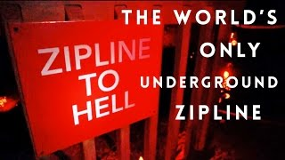 Underground Zip-line - Mega Cavern in Louisville, Kentucky
