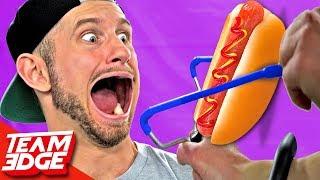 Hot Dog Slingshot Tasting Battle!!