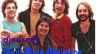 Journey Dont Stop Believing With Lyrics In Side Bar + Download