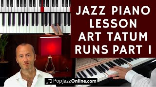 Art Tatum runs Jazz Lesson - Ragtime to Stride Piano Part 1/2