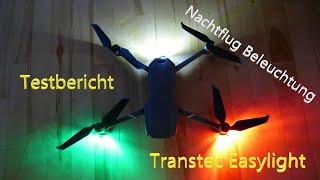 Testbericht - Nachtflug Beleuchtung Drohne - Transtec Easylight an der DJI Mavic 2 Pro