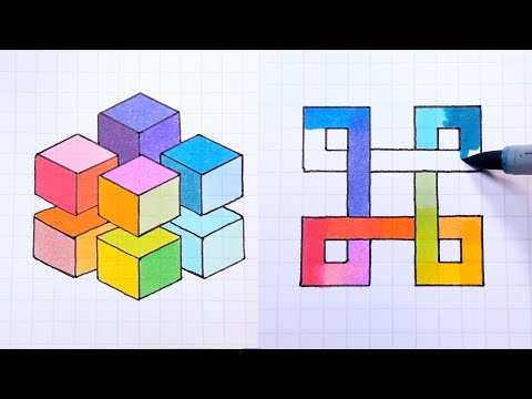 How to Draw - Easy 3D Illusion Art