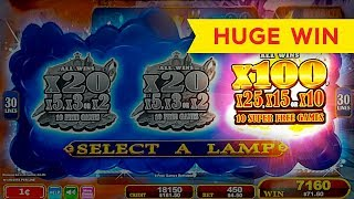 HUGE WIN! Lamp Of Destiny Slot - FINALLY, SUPER FREE GAMES, YES!