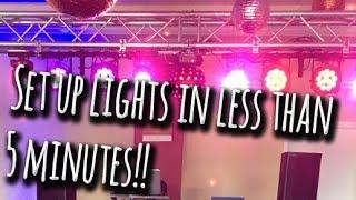 DJ & lighting tips   Instant light show!!   Vlog