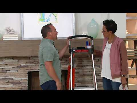Little Giant Xtra-Lite Plus Lightweight Step Ladder with Handrail on QVC