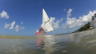 เรียนเรือใบ สโมสรเรือใบ กองเรือยุทธการ  วันที่ 2