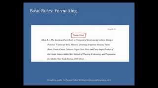 Purdue OWL: MLA Formatting: List of Works Cited