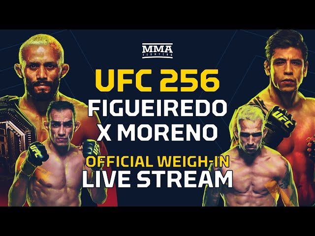 Ufc 256 Weigh Ins Figueiredo Vs Moreno Detailed Weigh In Results