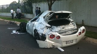 Nissan GT-R  ► Подборка безумных аварий