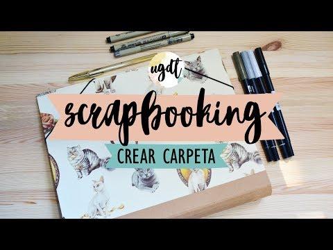 Haz tu propia carpeta con separadores  - Tutorial Scrapbook - UGDT