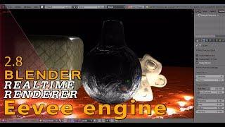 Blender 2.8 Eevee engine / real-time rendering / its crazyy..