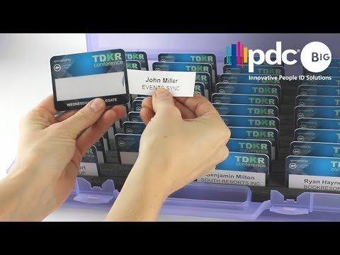 Wiederverwendbare Namensschilder Selfit® - PDC BIG