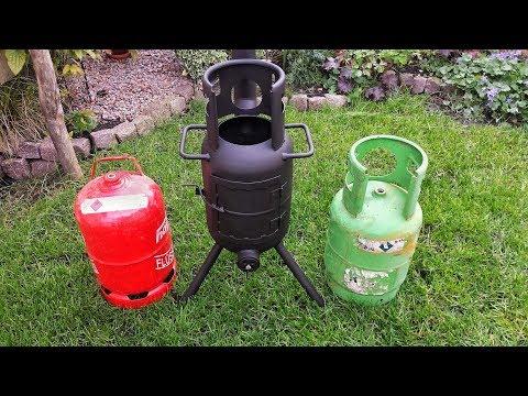 🔥 Terrassenofen aus Gasflasche selber bauen - Outdoor Ofen - Feuertonne
