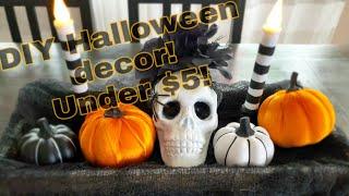 DIY DOLLAR TREE HALLOWEEN DECOR|| Under $5!!