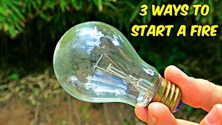 3 Weird Ways To Make A Fire