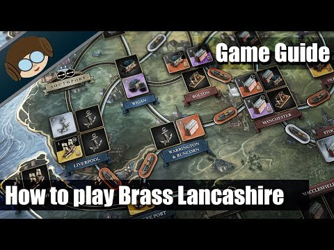 How to setup and play Brass Lancashire, action by action with actual gameplay