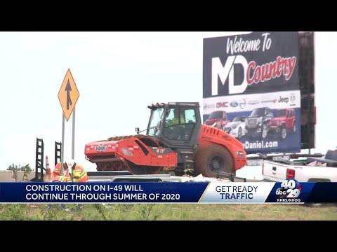 Construction underway on I-49 in Bentonville