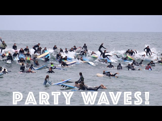 Surfers Catch INSANE Party waves in San Diego!