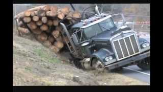 Ditched Kenworth Log Truck Recovery
