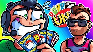 UNO Funny Moments - The Longest Game of Nogla Opening up Pokemon Packs! by Vanoss Gaming
