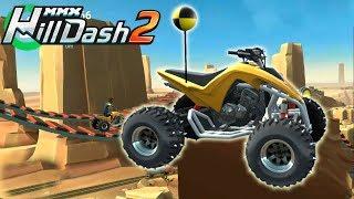 Игры гонки на андроид машинки для мальчиков крутое прохождение Hill Dash 2 КВАДРОЦИКЛ