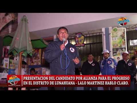 CANDIDATO A LA ALCALDIA DE LUNAHUANA LALO MARTINEZ HABLA CLARO