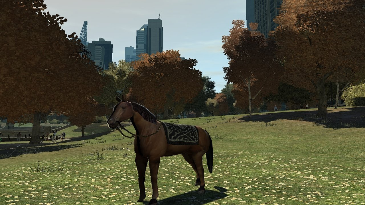 Putting A Horse Behind The Wheel In Grand Theft Auto IV Ends Predictably