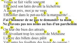 LA NON DEMANDE EN MARIAGE, Georges BRASSENS cover