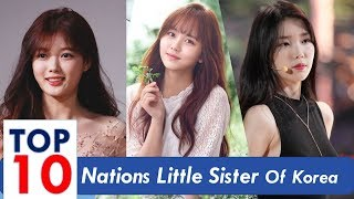 Top 10 Korean Celebrity With Nations Little Sister Title
