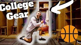 What GEAR Is Inside MY College Basketball Locker?!