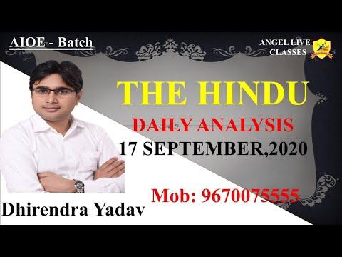 THE HINDU II DAILY ANALYSIS II 17 SEP, 20 II BY-DHIRENDRA YADAV