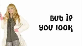 Hannah Montana ft. Billy Ray Cyrus - Love That Let's Go - Lyrics On Screen