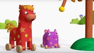 Деревяшки - Деревце+Простуда  - обучающие мультфильмы для малышей 0-4