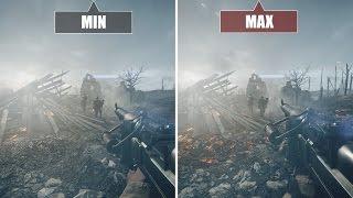 Battlefield 1 (PC) Graphics comparison / Grafikvergleich BF1 - Minimum vs. Maximum